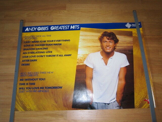 ANDY GIBB Greatest hits promo poster