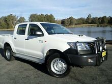 2014 Toyota Hilux KUN26R MY14 SR (4x4) White 5 Speed Automatic Dual Cab Pick-up Belconnen Belconnen Area Preview