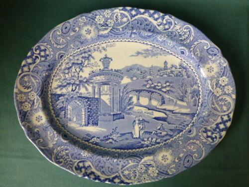 Antique Landscape W.R. Midwinter Scenery Staffordshire Platter England