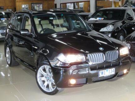 2008 BMW X3 E83 MY09 xDrive 30D Lifestyle Black Devil 6 Speed Auto Steptronic Wagon Seaford Frankston Area Preview