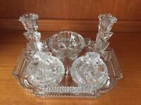 6 pieces Early 1950's Dressing Table Set.