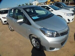 2014 Toyota Yaris NCP130R YR Silver Pearl 4 Speed Automatic Hatchback Bohle Townsville City Preview