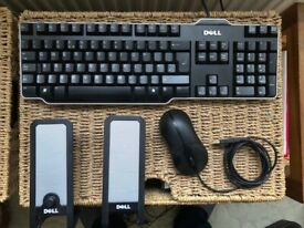 Dell keyboard, optical mouse and speakers