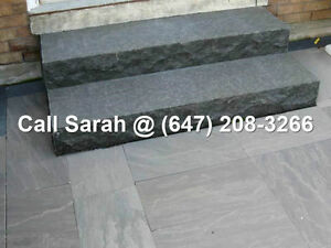 Jet Black Steps Ebony Black Granite Step Outdoor Natural Steps