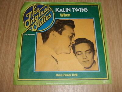 """Kalin Twins -When / Three O'Clock Thrill-The Orginal Oldies 7"""" rar"""