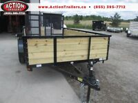High sided tandem axle landscape trailer - 12' long - $2994