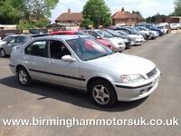 2001 (X Reg) Honda Civic 1.4I SPORT 5DR Hatchback SILVER + LOW MILES