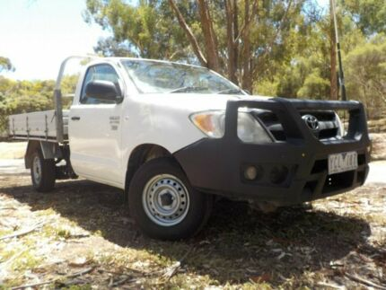 2006 Toyota Hilux TGN16R MY07 Workmate White 5 Speed Manual Cab Chassis