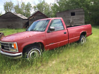 Chevy 1/2 ton truck.  Condition unknown- Part or repair