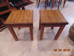 Beautiful Solid Oak End Tables(Trail)