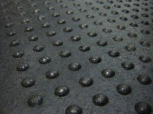Rubber Mats Featuring Dome-Top Design