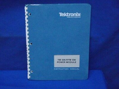 Tektronix Tm 506 Trtm 506 Instruction Manual