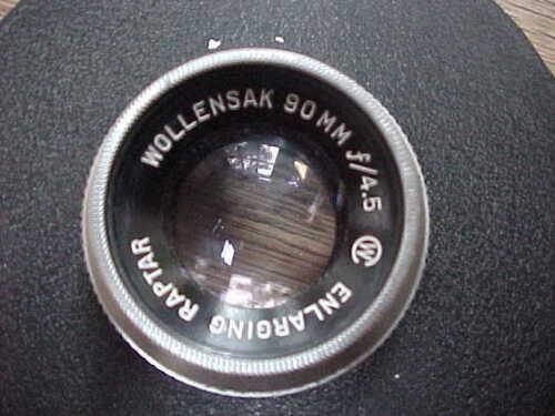 Vintage Wollensak 90mm f4.5 Enlarging Raptar w/Lens Board Retainer Ring Cap