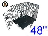 Ellie-Bo 48inch dog crate AND divider