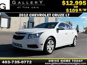 2012 Chevrolet Cruze LT $109 bi-weekly APPLY NOW DRIVE NOW