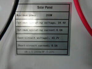 SOLAR PANEL 200W BRAND NEW WITH CHARGER GREAT FOR RV/CABIN ETC.. Prince George British Columbia image 3