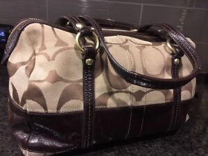 Authentic Fabric & Leather Coach Purse