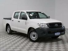 2008 Toyota Hilux TGN16R 08 Upgrade Workmate White 5 Speed Manual Dual Cab Pick-up Atwell Cockburn Area Preview
