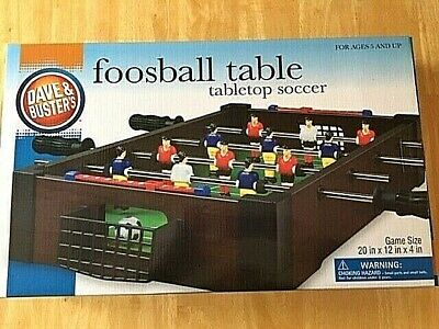 Used, Dave & Busters Foosball Table Tabletop Soccer Game Complete Wood Grain Finish for sale  Greendale