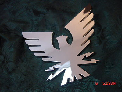 "FORMULA THUNDERBIRD BOAT EMBLEM LOGO  BIRD  CHROME 5 x 5-5/8 ""  FACTORY GENUINE"