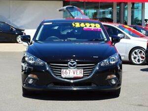 2014 Mazda 3 BM5438 SP25 SKYACTIV-Drive Black 6 Speed Sports Automatic Hatchback Garbutt Townsville City Preview