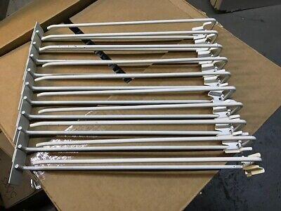 16 Peg Board Scanner Hook Swivel Scan Pegboard Slat Slot Hooks Wall 20 Pack
