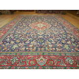 Ca1930VGDY ANTIQUE PERSIAN TABATABAE SERAPI HERIZ TABRIZ 8x11 ESTATE SALE RUG