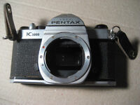 pentax asahi K1000 SLR film camera only. 35 mm. Lens not include