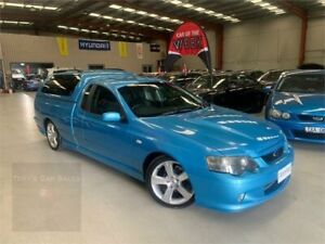 2005 Ford Falcon BA Mk II XR8 Ute Super Cab Neo Blue 4 Speed Sports Automatic Utility