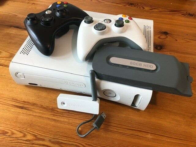 Xbox 360 + Kinect sensor + 60GB HDD + Wireless adapter + 2 controllers + 2  mics + 17 games   in Hockley Heath, West Midlands   Gumtree