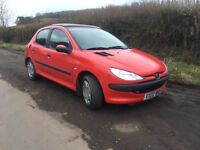 2002 Peugeot 206 Lx 1.4 Petrol (Electric Sunroof) Only 65000 Miles, Service History, 11 Months MOT!!