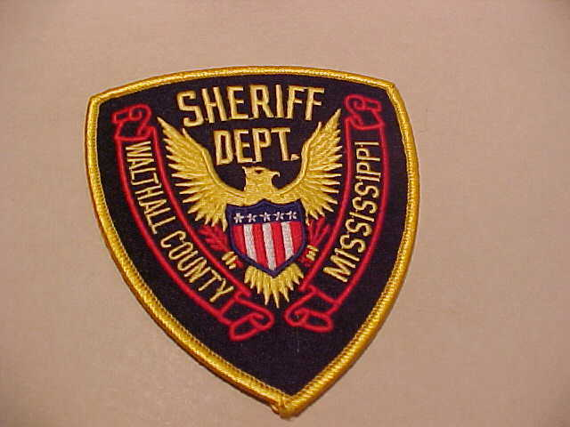 WALTHALL  COUNTY MISSISSIPPI  POLICE PATCH SHOULDER SIZE UNUSED