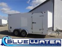 HOT DEALS! Legend Thunder Cyclone enclosed trailers single & tan