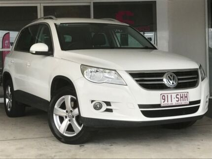 2009 Volkswagen Tiguan 5N MY09 147TSI 4MOTION Candy White 6 Speed Sports Automatic Wagon Brendale Pine Rivers Area Preview