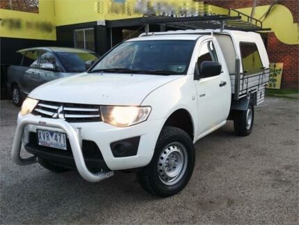 2010 Mitsubishi Triton MN MY10 GLX White 4 Speed Automatic Cab Chassis Upper Ferntree Gully Knox Area Preview