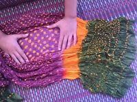 Pure silk tie dye scarf new