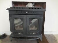Log stove with back boiler 11kw