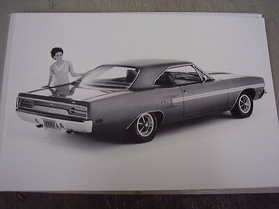 (1970 PLYMOUTH  GTX   12 X 18 LARGE PICTURE  PHOTO )