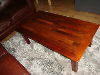 Solid wood coffee table made from exotic wood