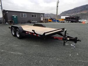 NEW 14' 14,000lb HEAVY DUTY EQUIPMENT FLATDECK TRAILER