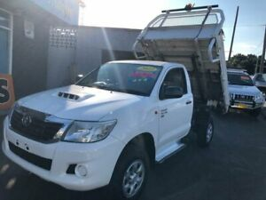 2013 Toyota Hilux KUN26R MY12 SR White 4 Speed Automatic Cab Chassis Clyde Parramatta Area Preview