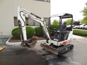 Bobcat Mini Excavator For Rent with Hydraulic Thumb