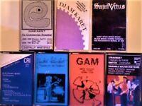 DJAM KARET, SAINT VITUS, GAM & GUNTER SCHICKERT, WALTER BOEYKENS, ELECTRONIC PIONEERS CASSETTE TAPES