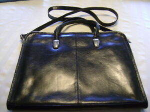 Leather brief case for Computer-laptop-I pad