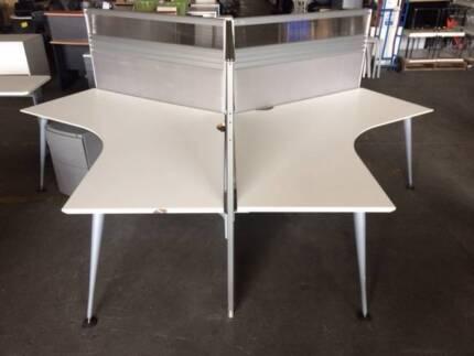 120 Degree Grey 3 pod workstation – 3 x available Smithfield Parramatta Area Preview