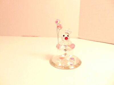 small clear crystal clown holding - Small Clear Balloons
