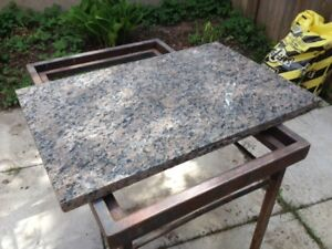 Steel and Polished Granite Table