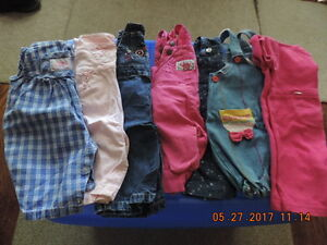 Girl's Size 3-6months Overalls