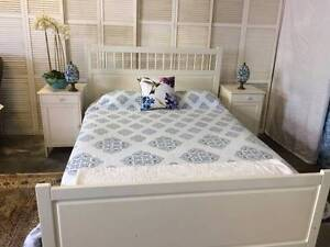 Queensize bedroom suite: Hamptons style, IKEA & as new mattress Wembley Cambridge Area Preview