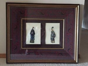 VINTAGE SILK CHINESE ROYAL FAMILY PICTURE